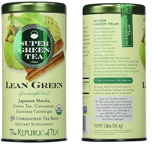 The Republic Of Tea Lean Green Supergreen Tea